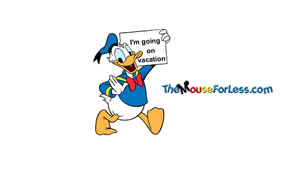 Donald Duck Luggage Tag Back