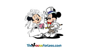 Disney Wedding Luggage Tag Back