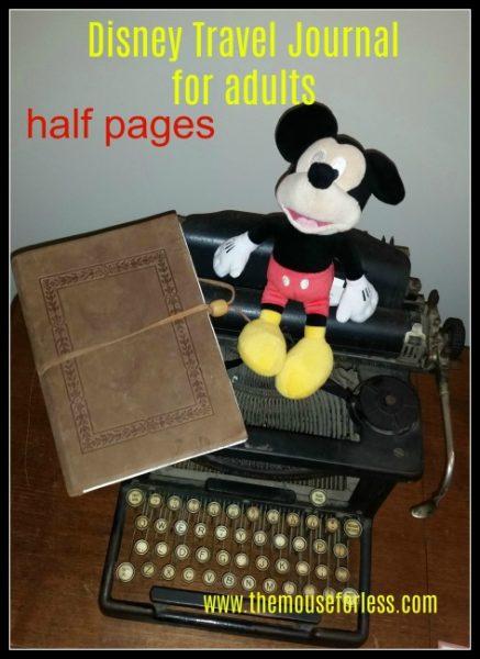 Disney Travel Journal Adults Half