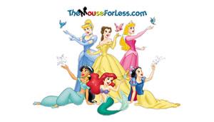 Disney Princesses Luggage Tag Back