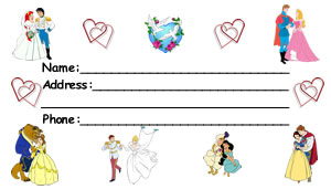 Disney RomanceLuggage Tag Front
