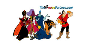 Disney Male Villains Luggage Tag Back