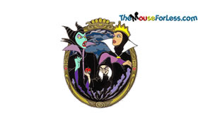 Disney Female Villains Luggage Tag Back