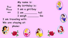 Disney Princesses Kids ID