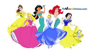Disney Princess Luggage Tag Back