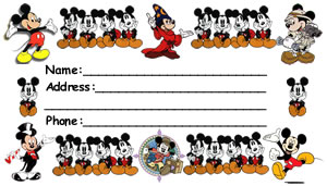 Mickey Mouse Luggage Tag Front
