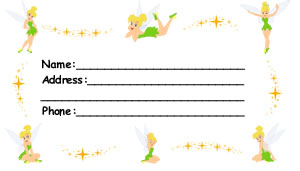 Tinkerbell Luggage Tag Front