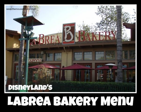 La Brea Bakery Menu
