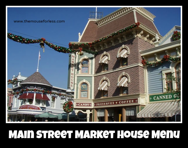 Main Street Market House Menu