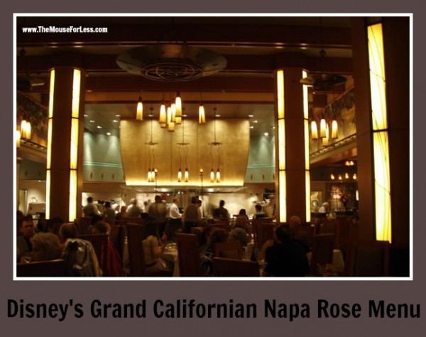 Napa Rose Menu