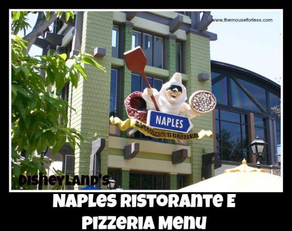 Naples Ristorante e Pizzeria Menu