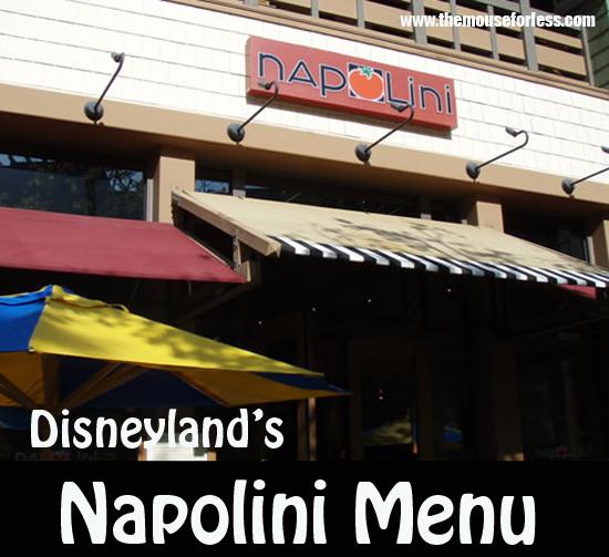 Napolini Menu