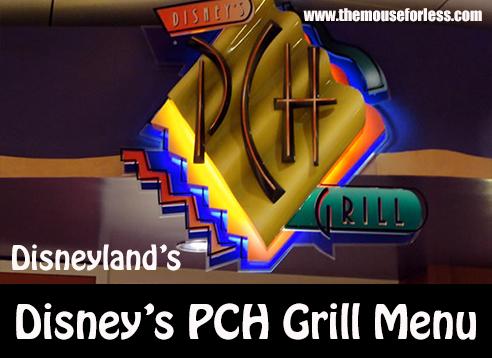 Disney's PCH Grill Menu
