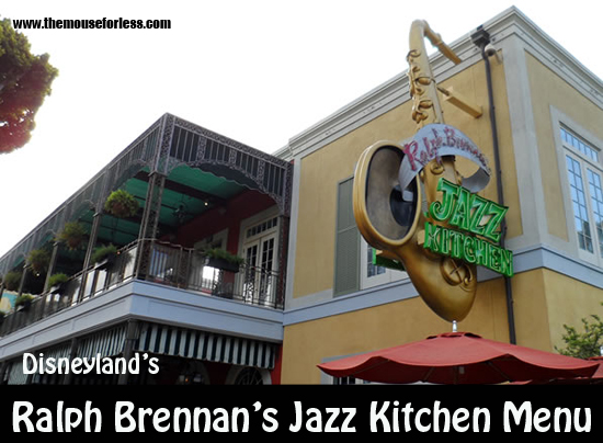 Ralph Brennan's Jazz Kitchen Menu