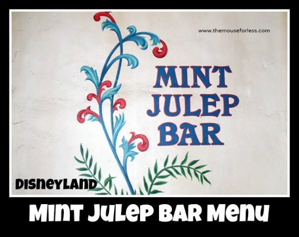 Mint Julep Bar Menu
