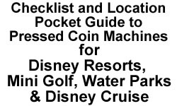 Disney Resorts and Water Parks Pressed Penny Checklist Pocket Guide