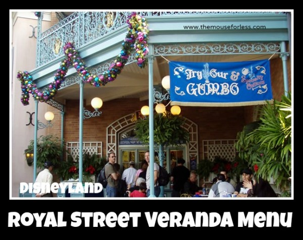 Royal Street Veranda Menu