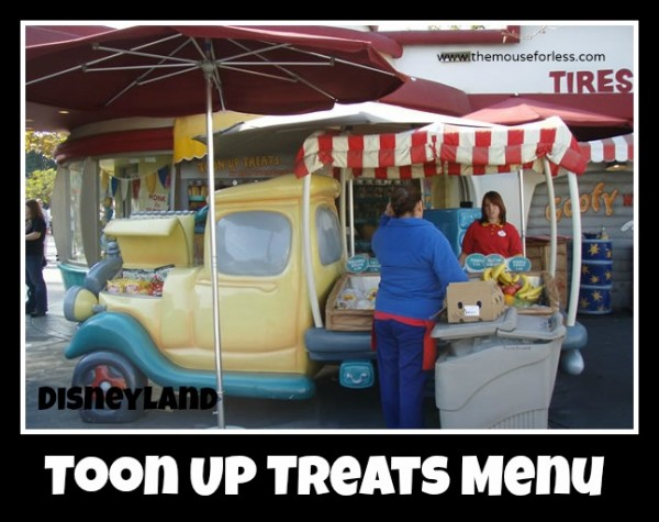 Toon Up Treats Menu