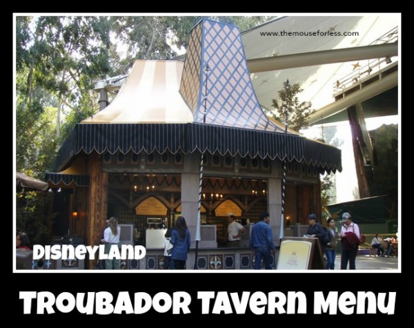 Troubador Tavern Menu
