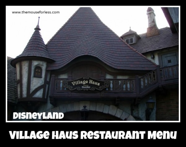 Village Haus Restaurant Menu