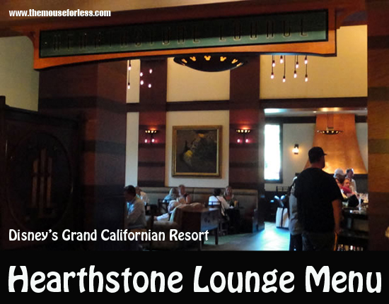 Hearthstone Lounge Menu