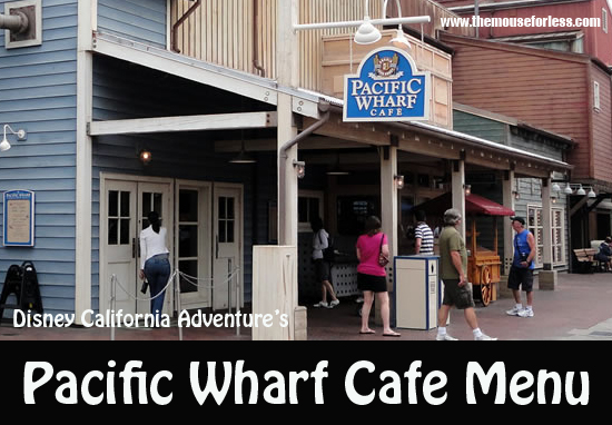 Pacific Wharf Cafe Menu