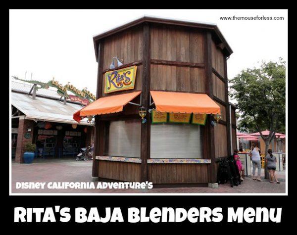 Rita's Baja Blenders Menu