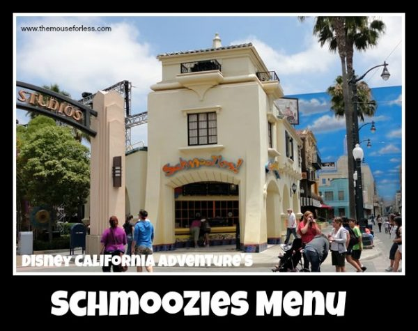 Schmoozies Menu