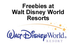 Freebies at Walt Disney World Resorts