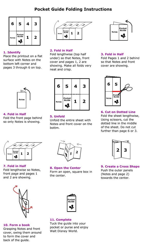 Pocket Guide folding step 1