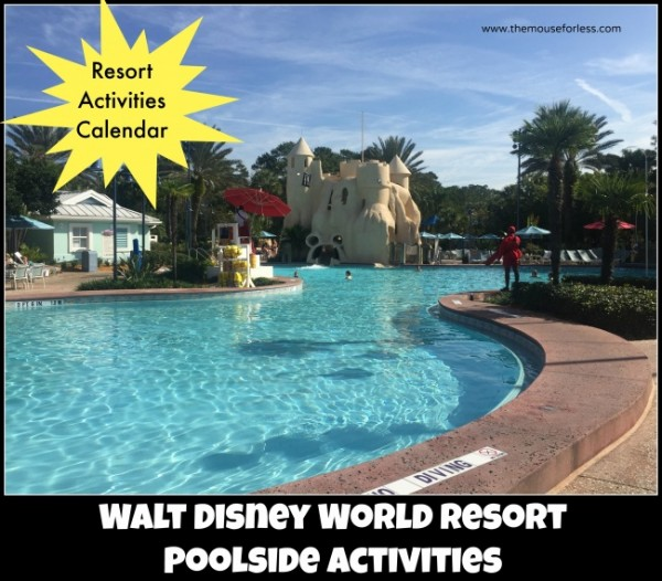 Walt Disney World Resort Poolside Activities