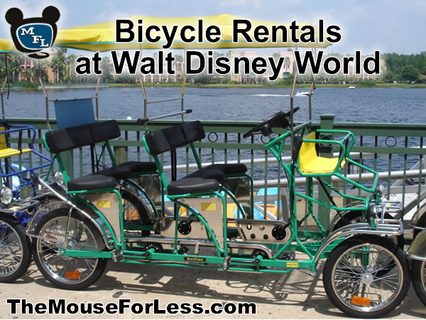 Walt Disney World Resorts Bike Rental from themouseforless.com #DisneyWorld #Vacation