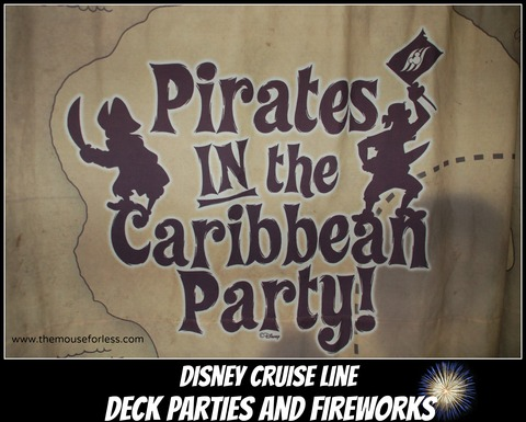 Disney Cruise Line Deck Parties and Fireworks