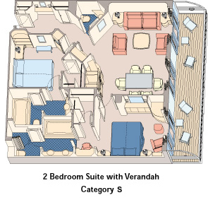 Category S - 2 Bedroom Suite
