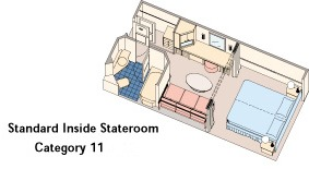 Category 11 - Standard Inside Stateroom