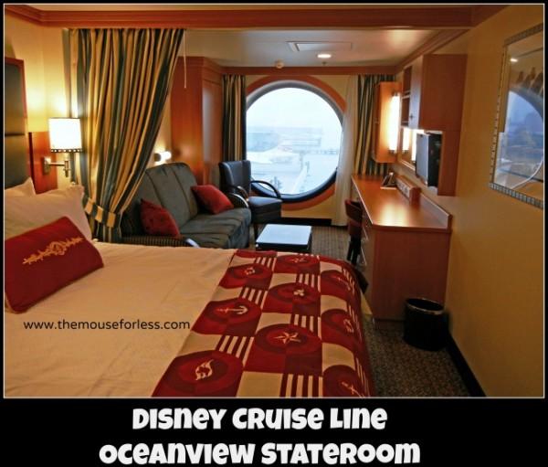 Disney Cruise Line Oceanview Stateroom