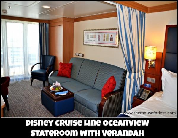 Disney Cruise Line Oceanview Stateroom w Verandah