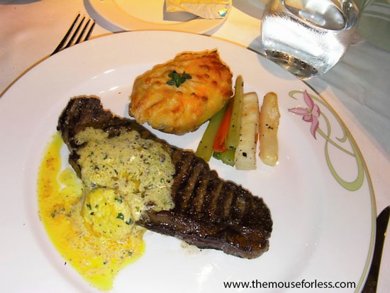 Disney Dream Enchangted Garden – New York Strip Steak #DCL #Dining