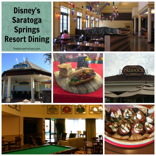 Disney's Saratoga Springs Resort Dining