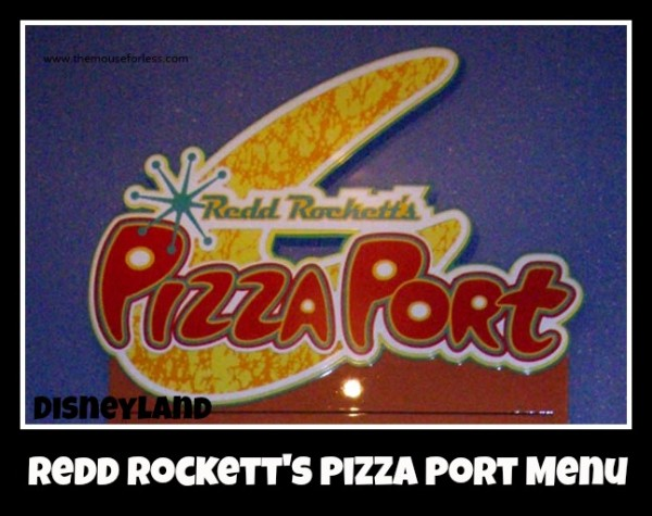 Redd Rockett's Pizza Port Menu