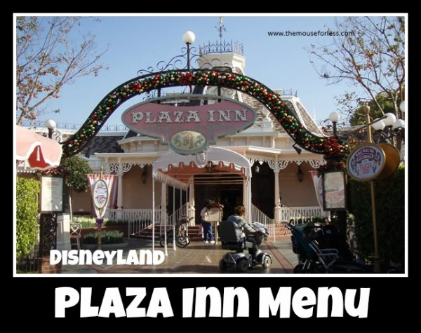 Plaza Inn Menu