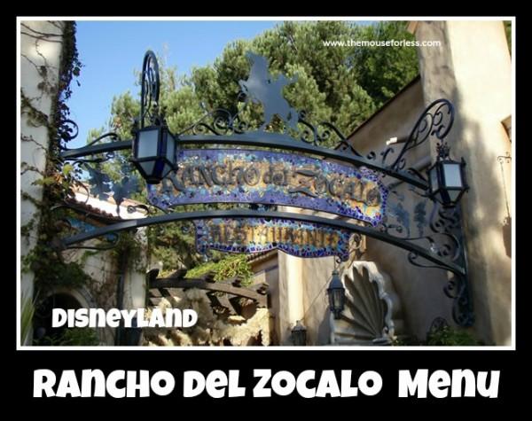 Rancho del Zocalo Restaurante Menu
