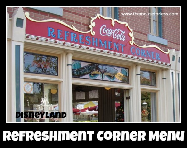 Refreshment Corner Menu
