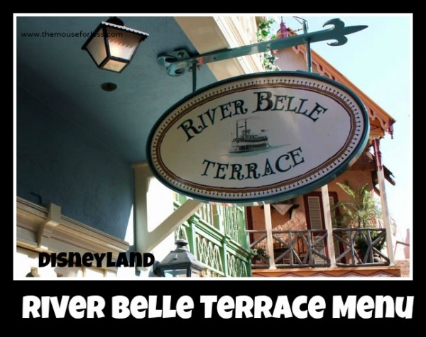 River Belle Terrace Menu