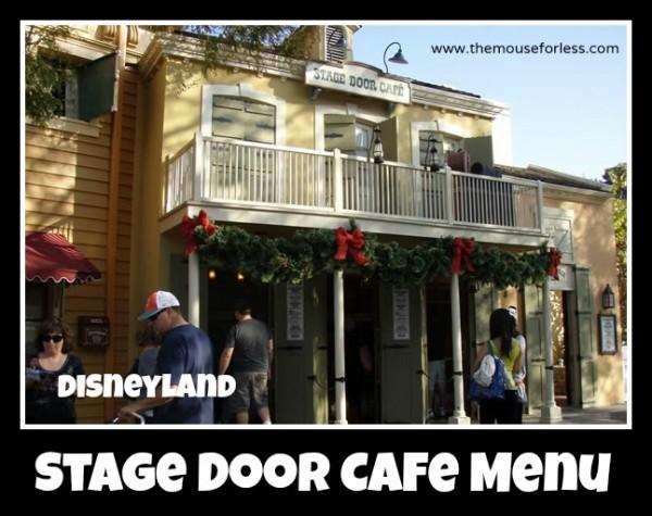 Stage Door Cafe Menu