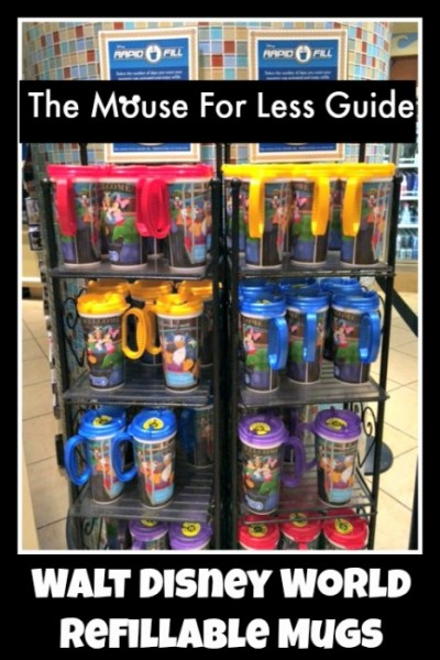 Walt Disney World Rapid Fill Refillable Mugs