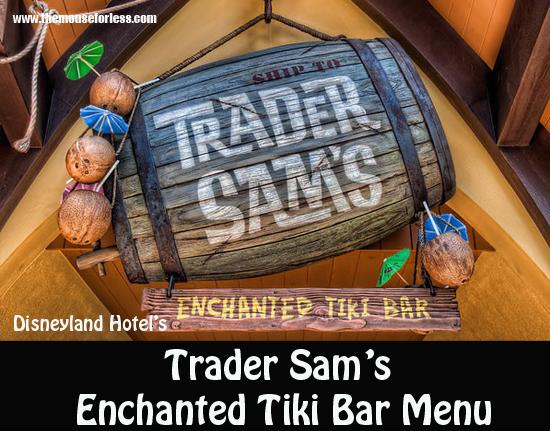 Trader Sam's Enchanted Tiki Bar Menu
