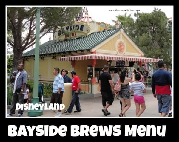 Bayside Brews menu