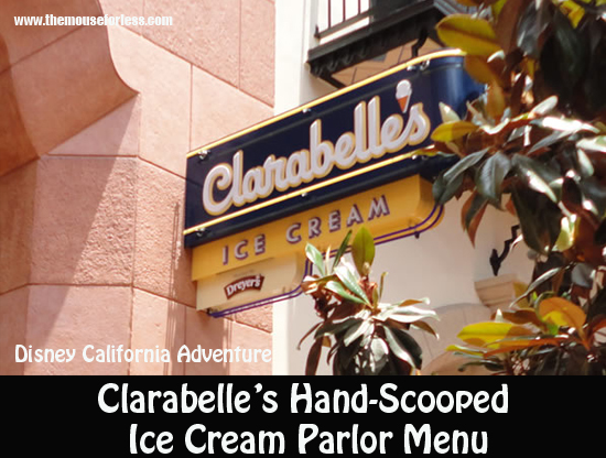 Clarabelle's Hand-Scooped Ice Cream Parlor Menu