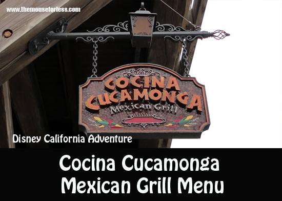 Cocina Cucamonga Mexican Grill Menu